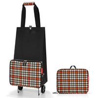 Сумка на колесиках Foldabletrolley glencheck red, Reisenthel